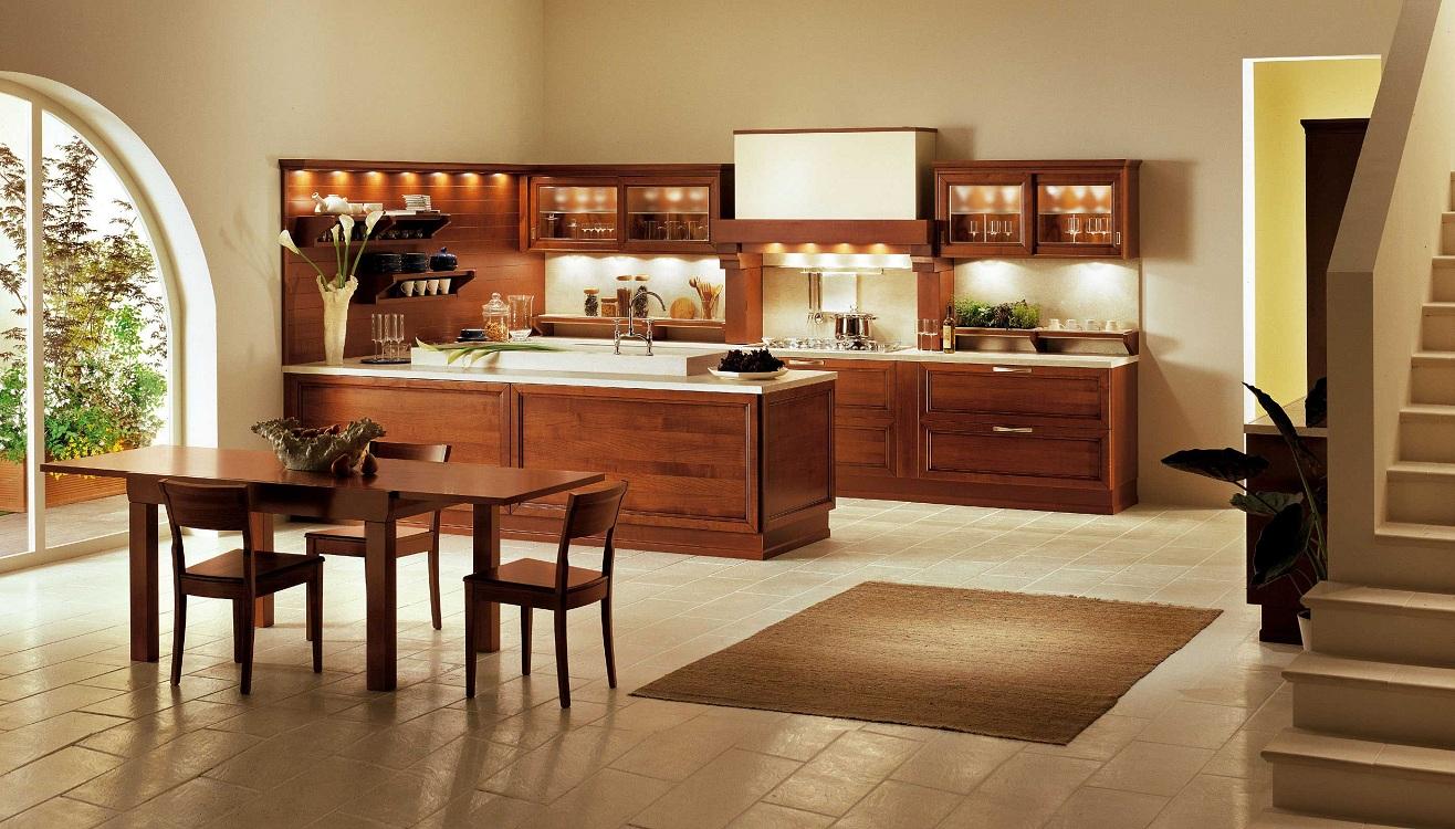 Выбор оттенка коричневого для кухни