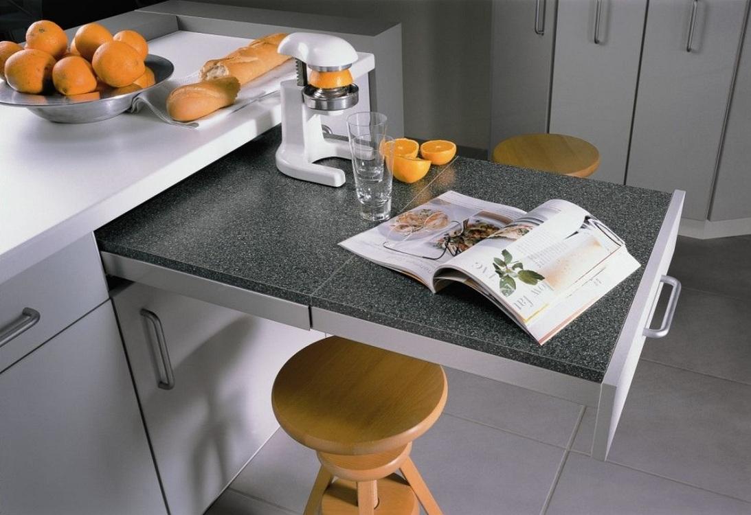 Выдвижной столик для маленькой кухни
