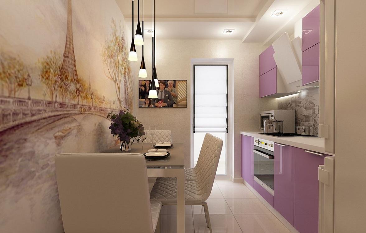 Акриловые обои для маленькой кухни