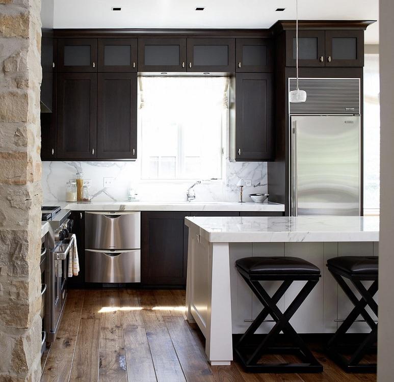 Черная кухня 6 м