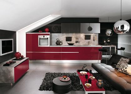 Дизайн черно-красных кухонь в интерьере, выбор аксессуаров