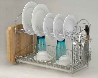 Двухуровневая сушилка для посуды