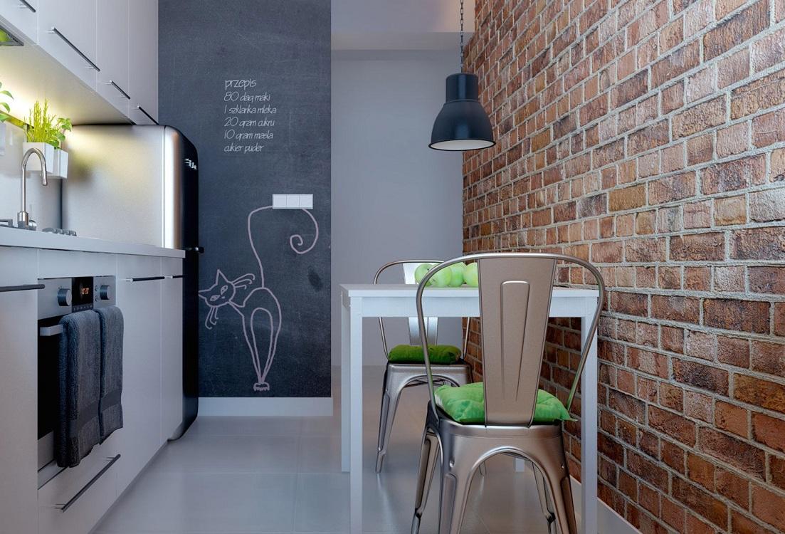Холодильник на кухне 6 м