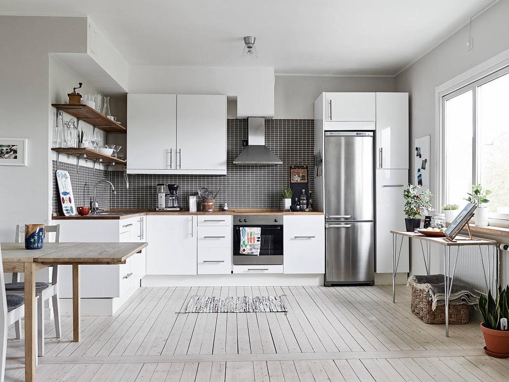 Использование полок на кухне