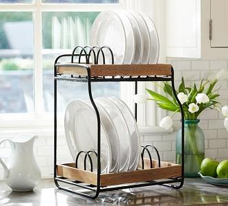 7 видов и 3 материала изготовления сушилок для посуды, производители и цены