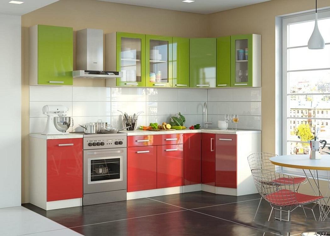 Красно-зеленая кухня