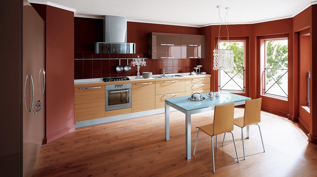 Кухни с западной стороны терракотового цвета