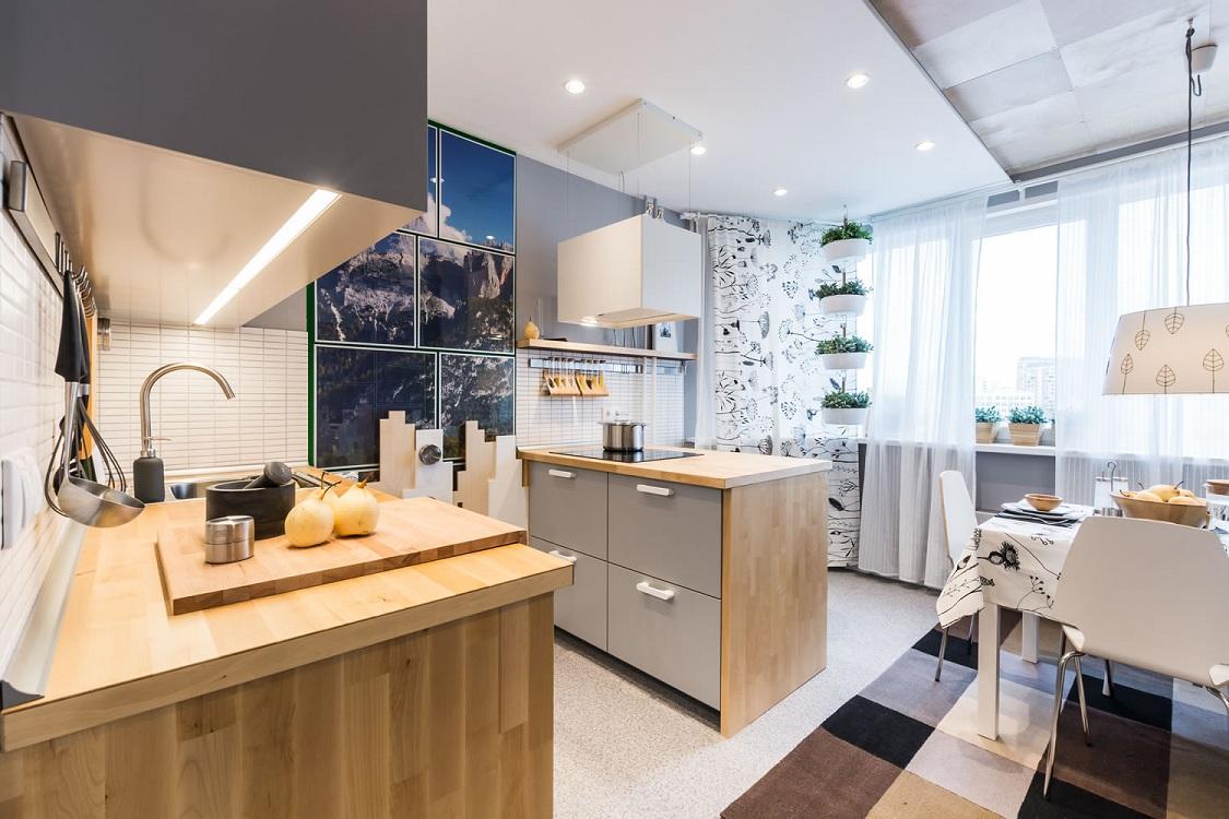 Кухня 14 м с островом