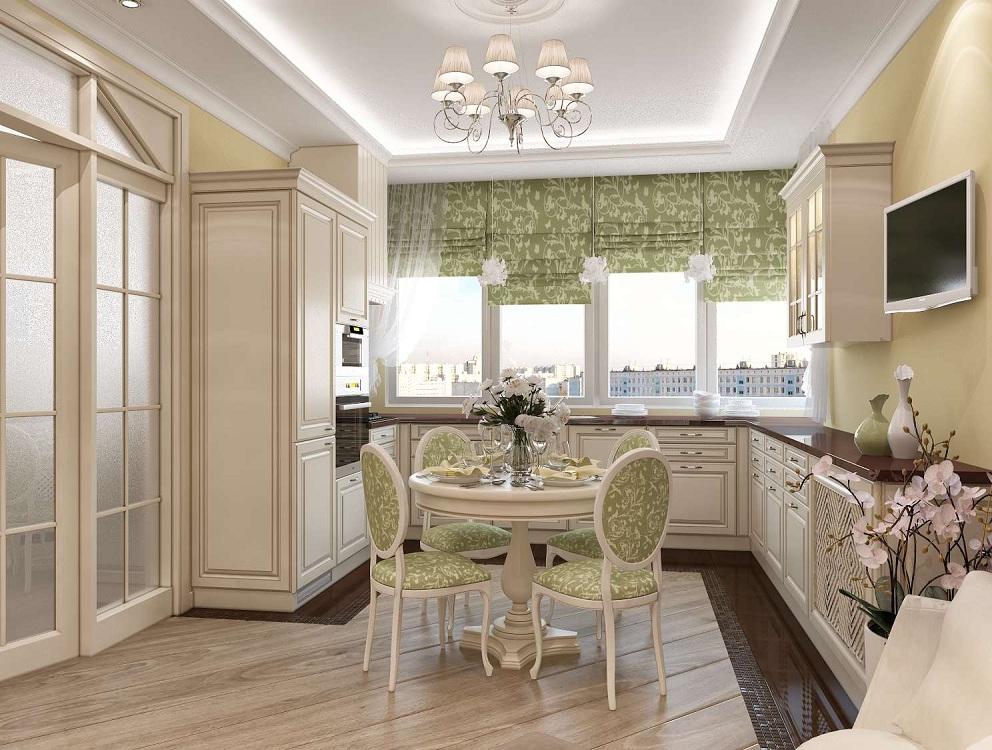 Кухня 14 м в классическом стиле