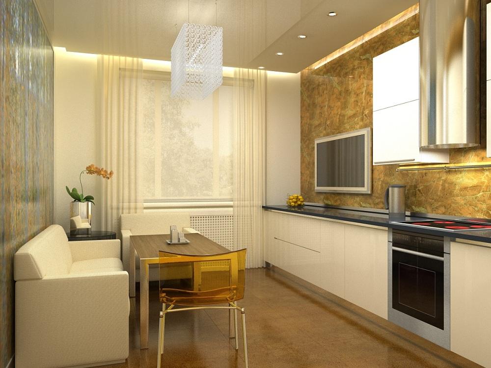 Кухня 14 метров в современном стиле