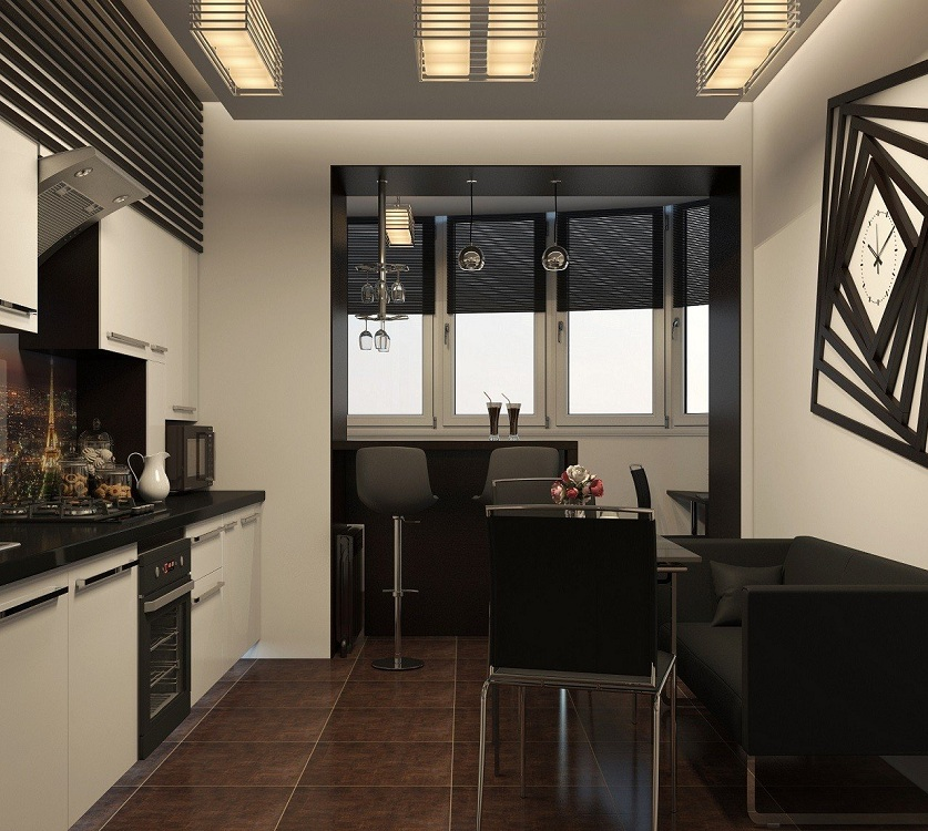 Кухня 6 метров с балконом