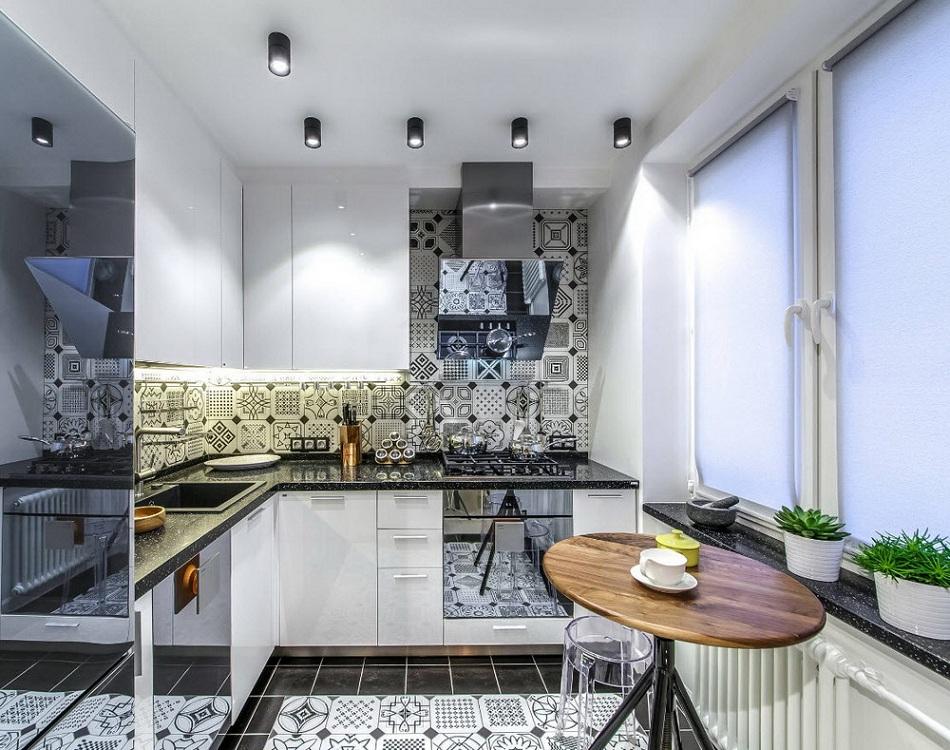 Кухня 6 метров в современном стиле