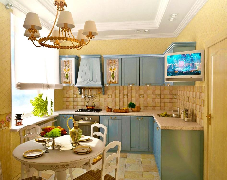 Кухня 6 метров в стиле прованс