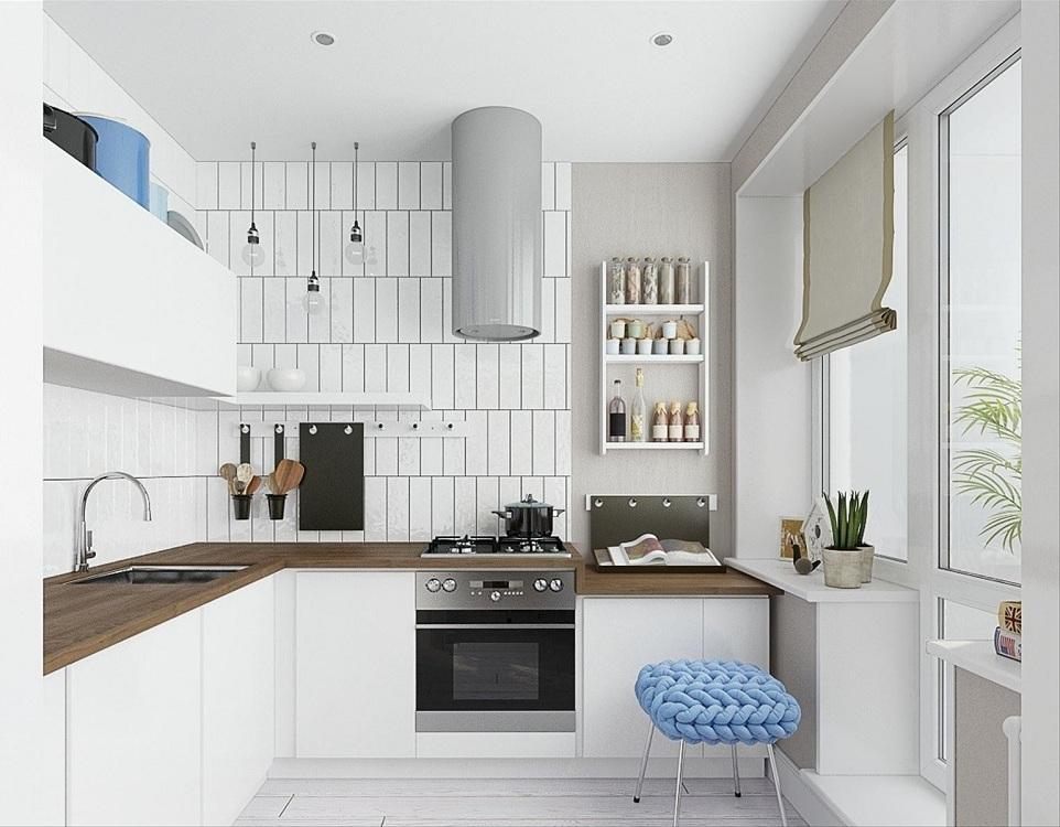 Кухня 7 метров в скандинавском стиле