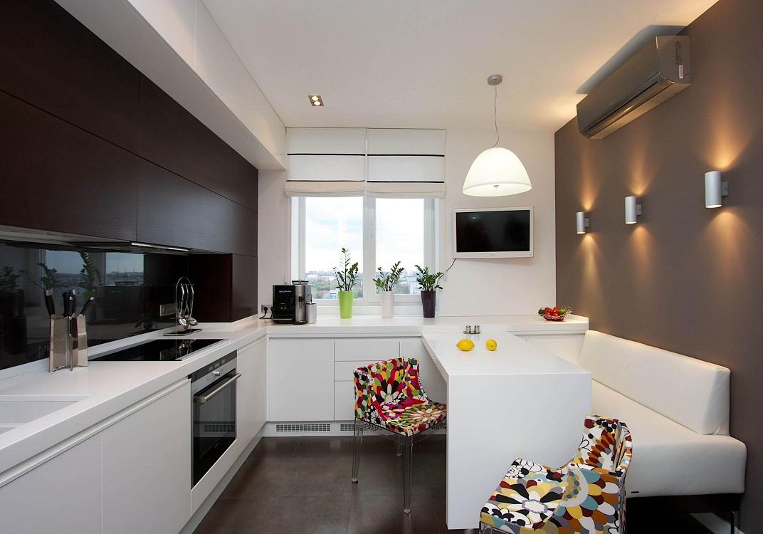 Кухня 7 метров в стиле минимализм