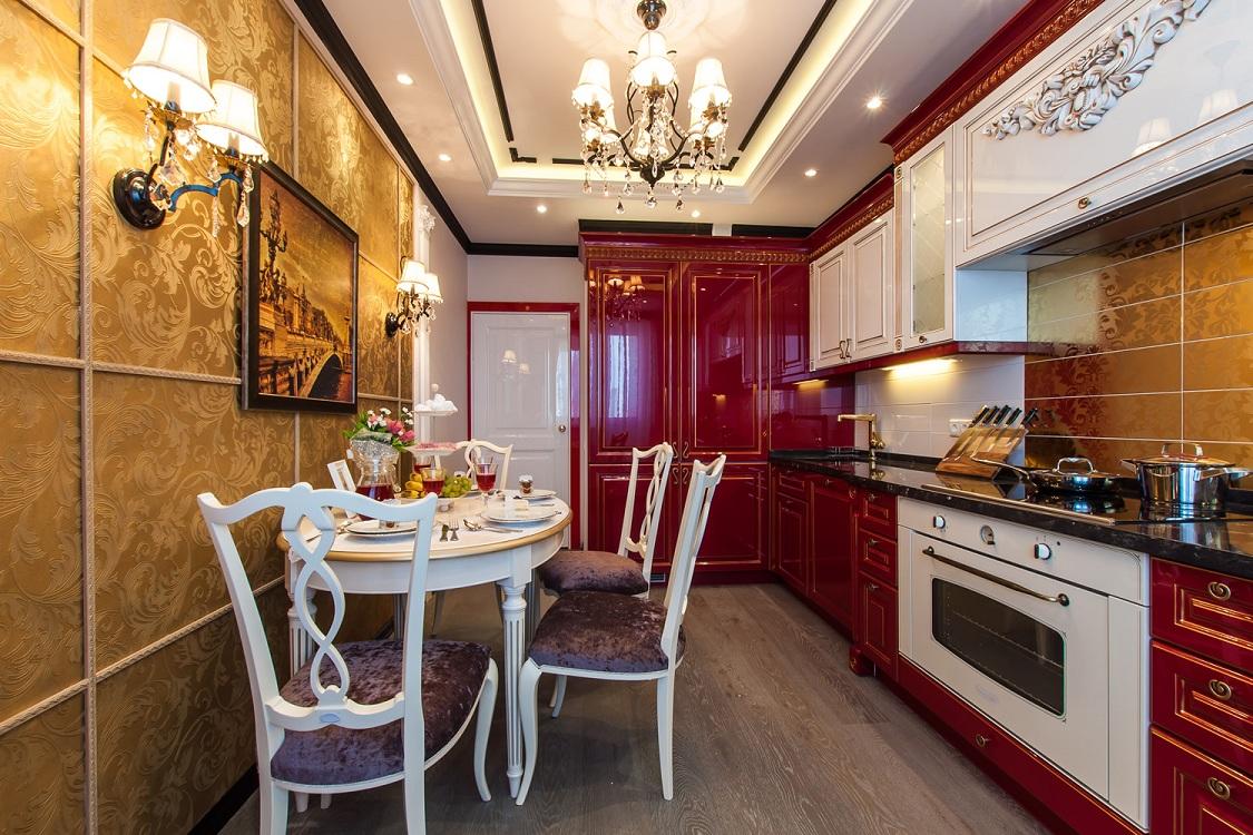 Кухня 9 м в классическом стиле