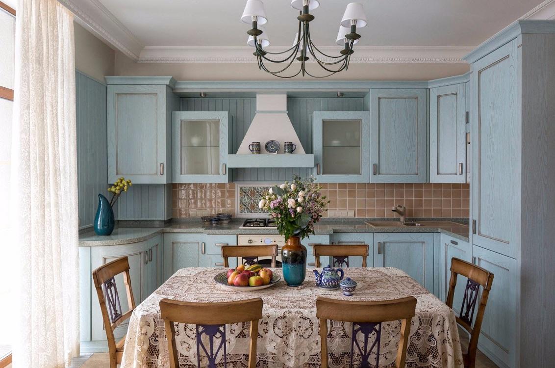 Кухня 9 м в стиле прованс