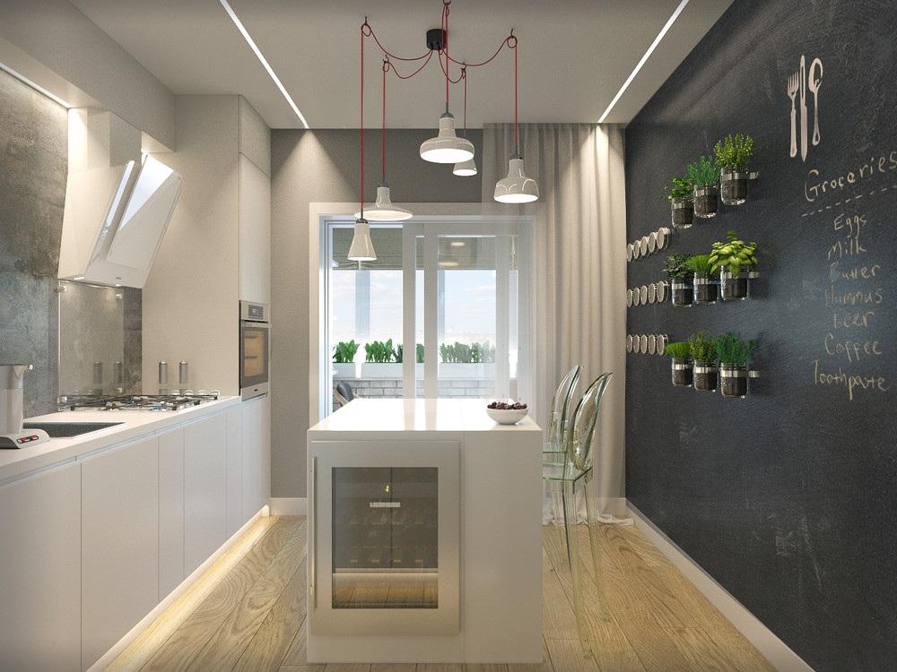 Кухня 9 метров квадратная
