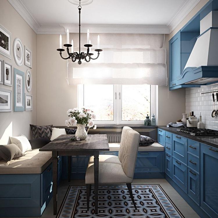 Кухня 9 метров с диваном