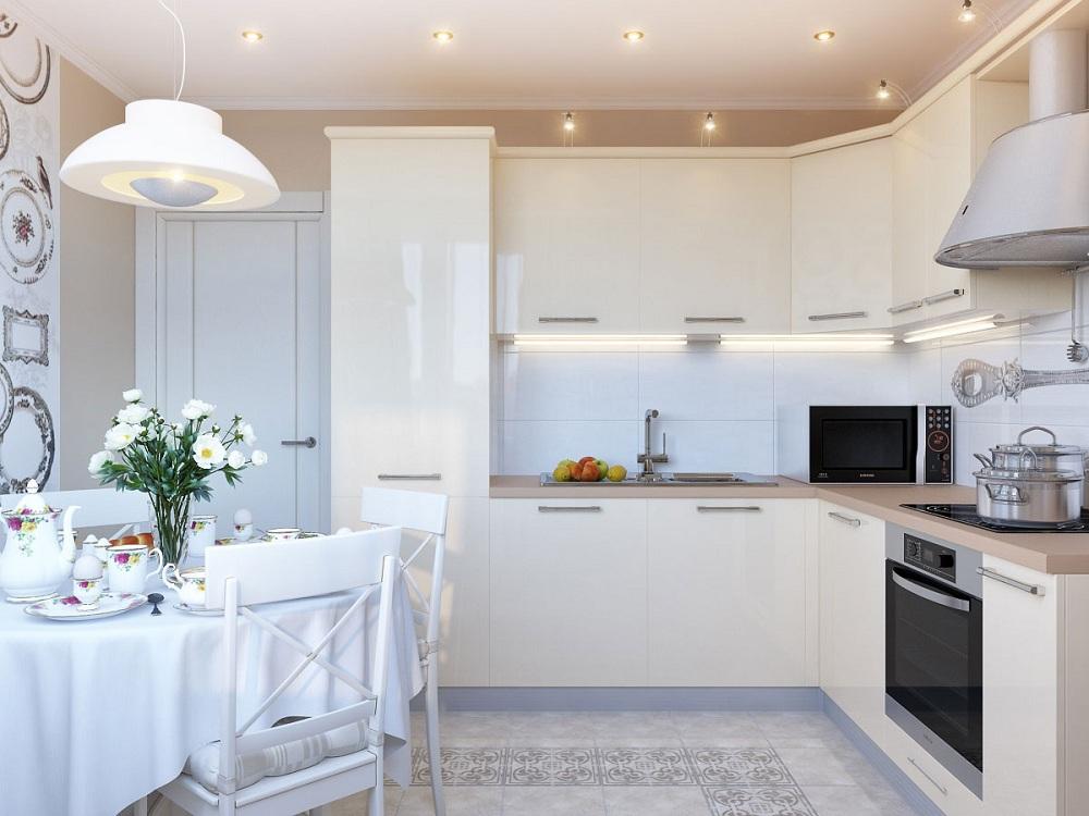 Кухня 9 метров в современном стиле