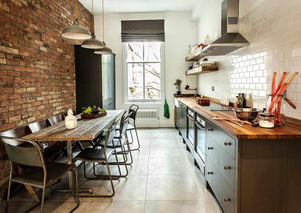 Кухня 9 метров в стиле лофт