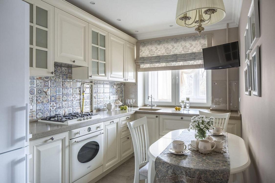 Кухня в стиле прованс 7 метров