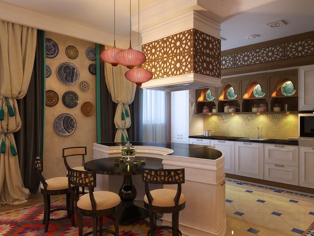 Кухонные лампы в этно-стиле