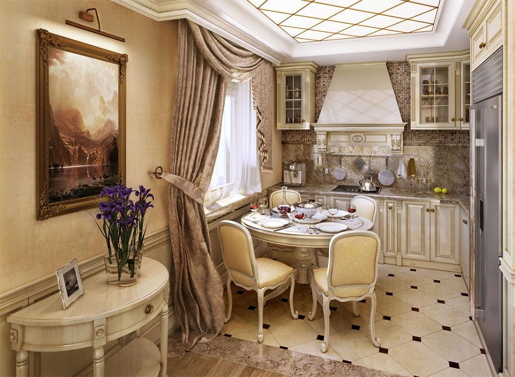 Маленькие кухни в классическом стиле