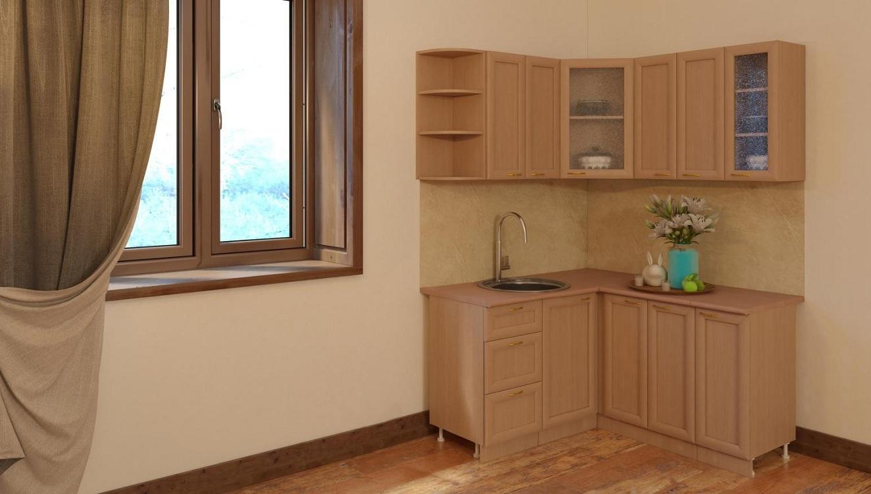 Навесной угловой кухонный шкаф
