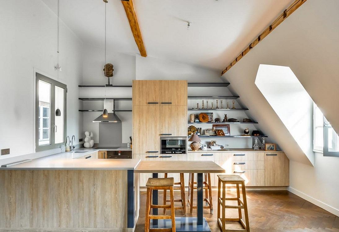 Небольшая п-образная кухня