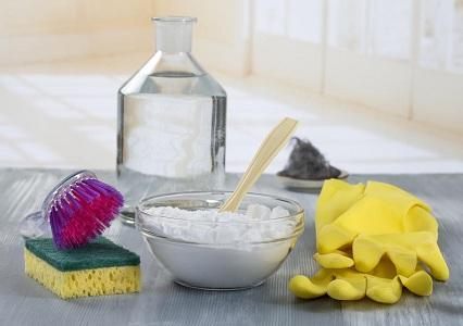 Отмыть духовку содой