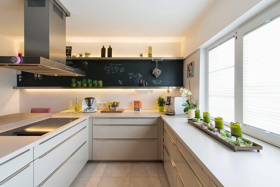 П-образная кухня 9 метров