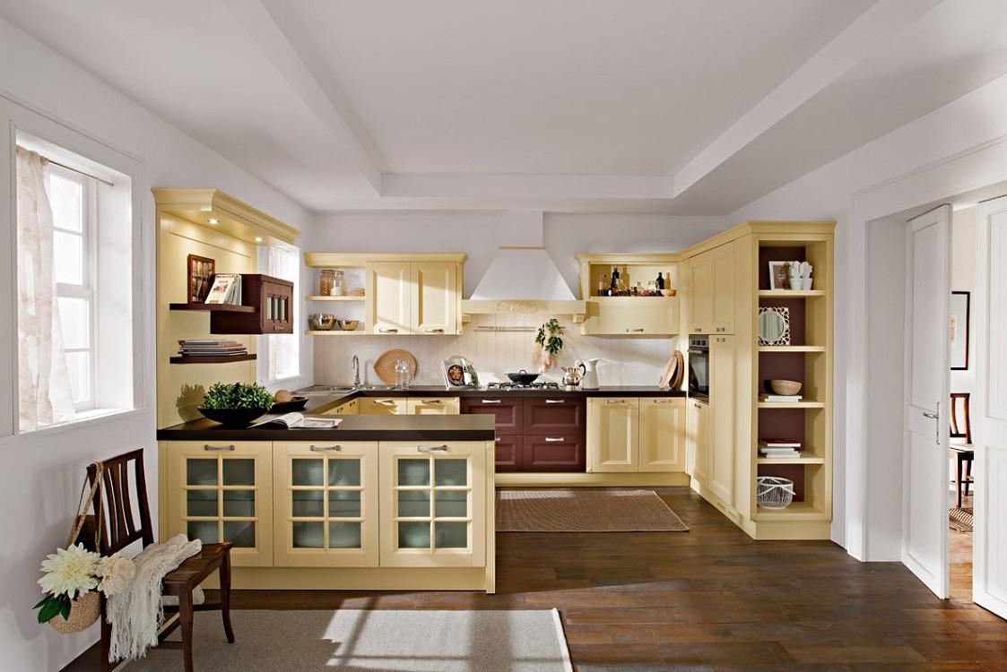Пенал с открытыми полками для кухни