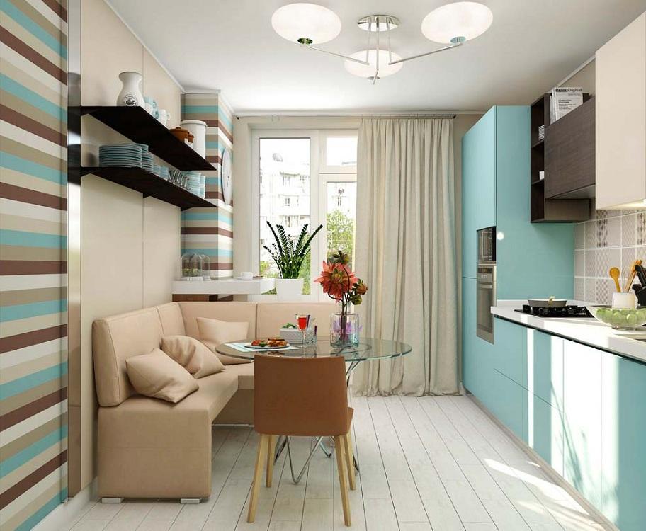 Подбор цвета для маленькой кухни