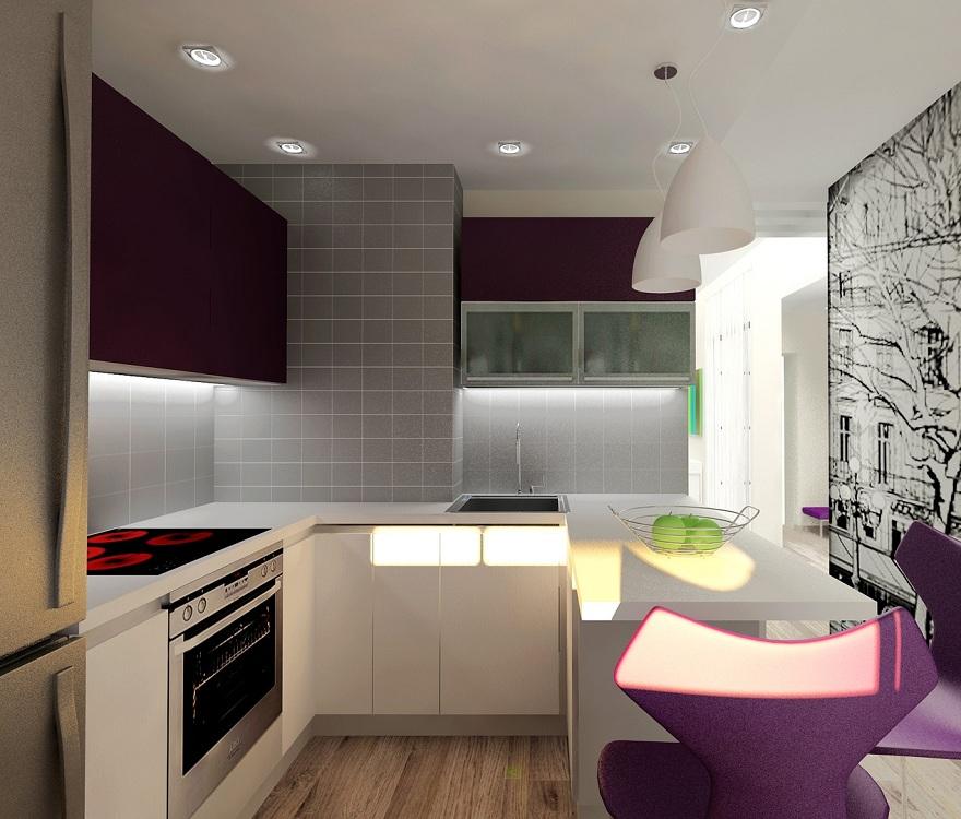 Подходящая мебель для кухни 7 метров