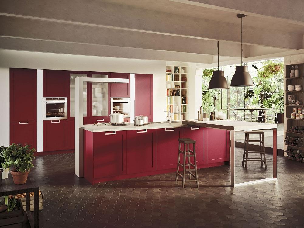 Пол для красной кухни