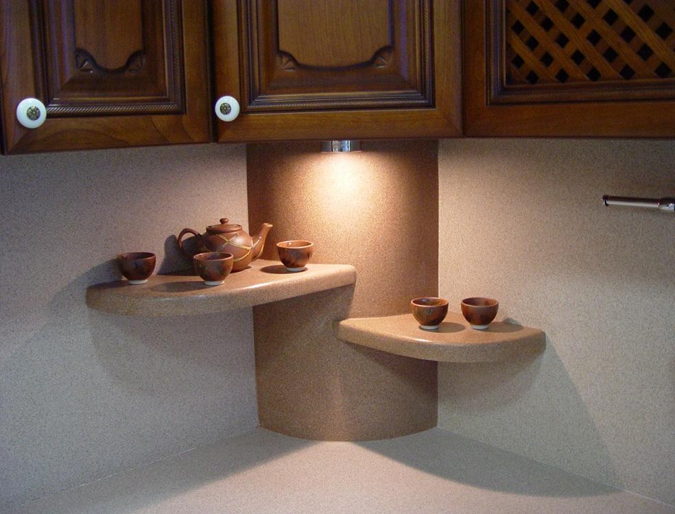 Полки из камня для кухни