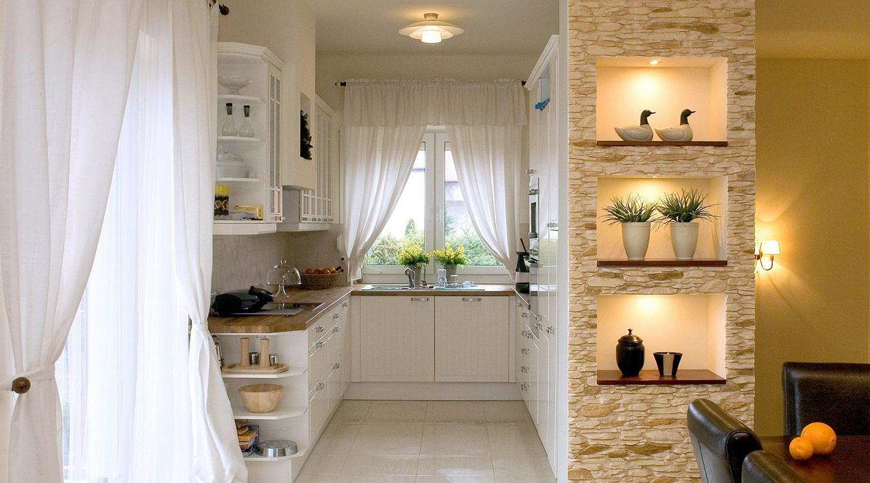 Полки на маленькой кухне