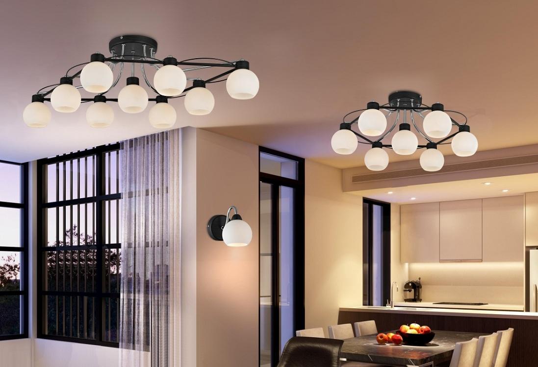 Потолочные люстры для кухни