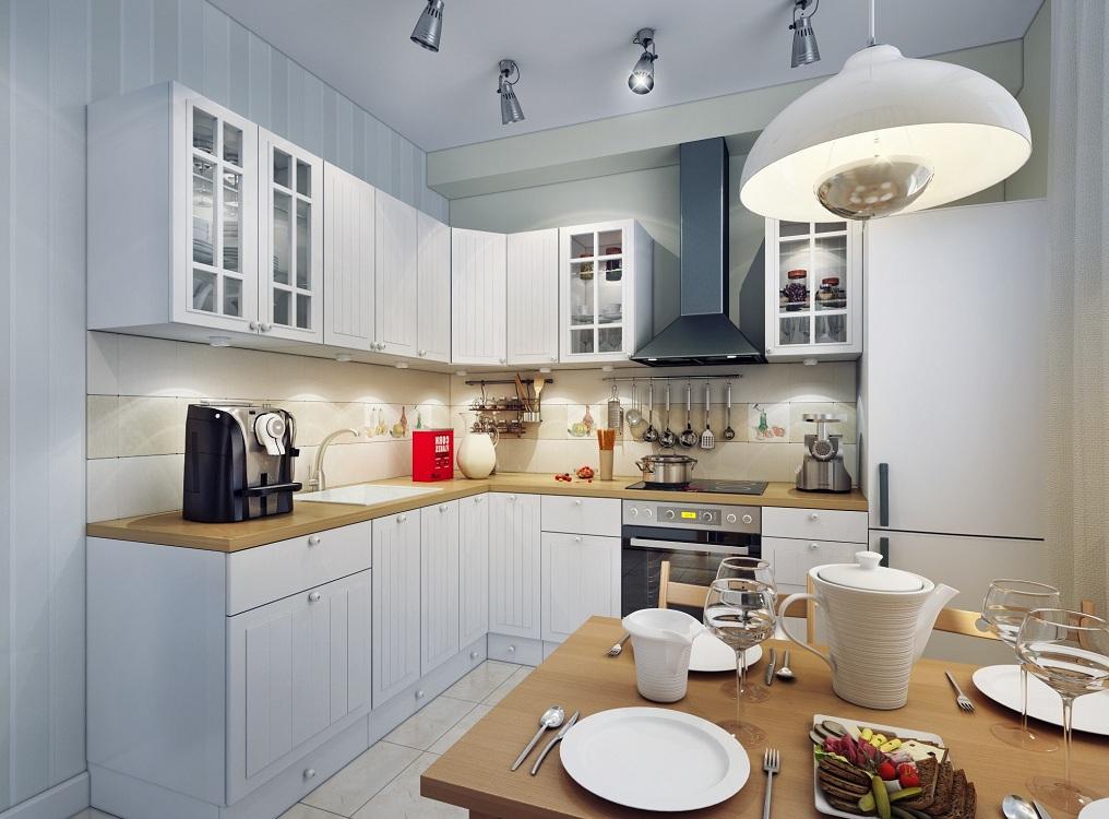 Правила размещения люстры на кухне