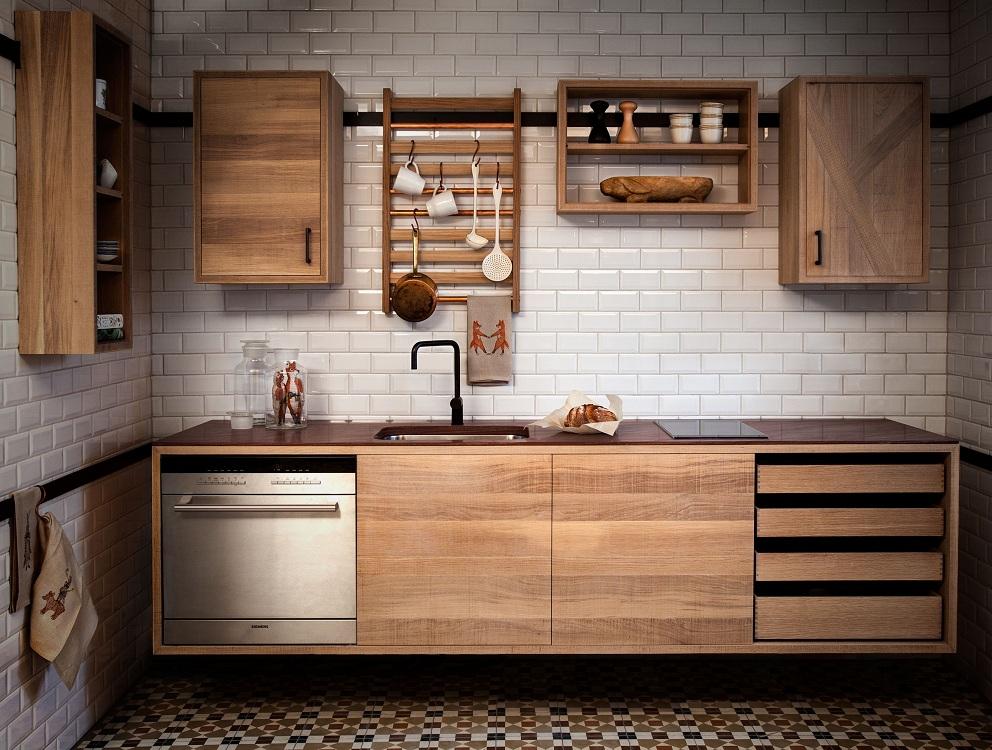 Правила размещения навесных ящиков на кухне