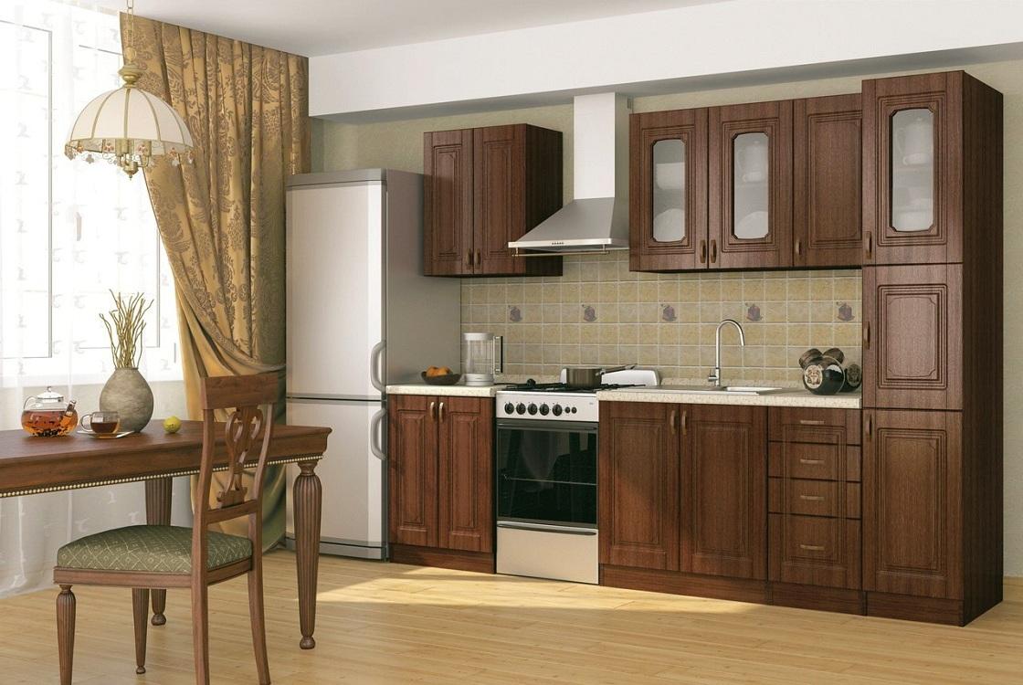 Прямая кухня с пеналом