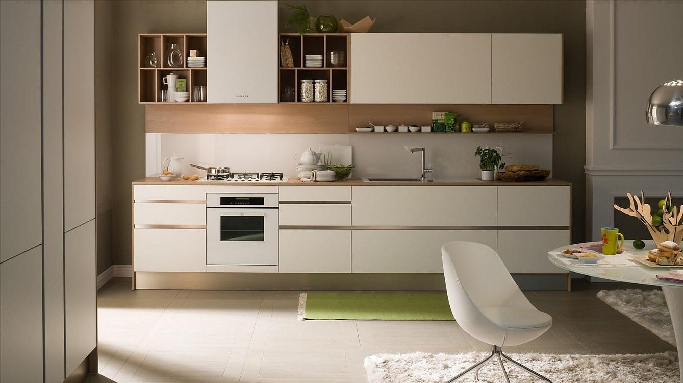 Варианты дизайна прямых кухонь