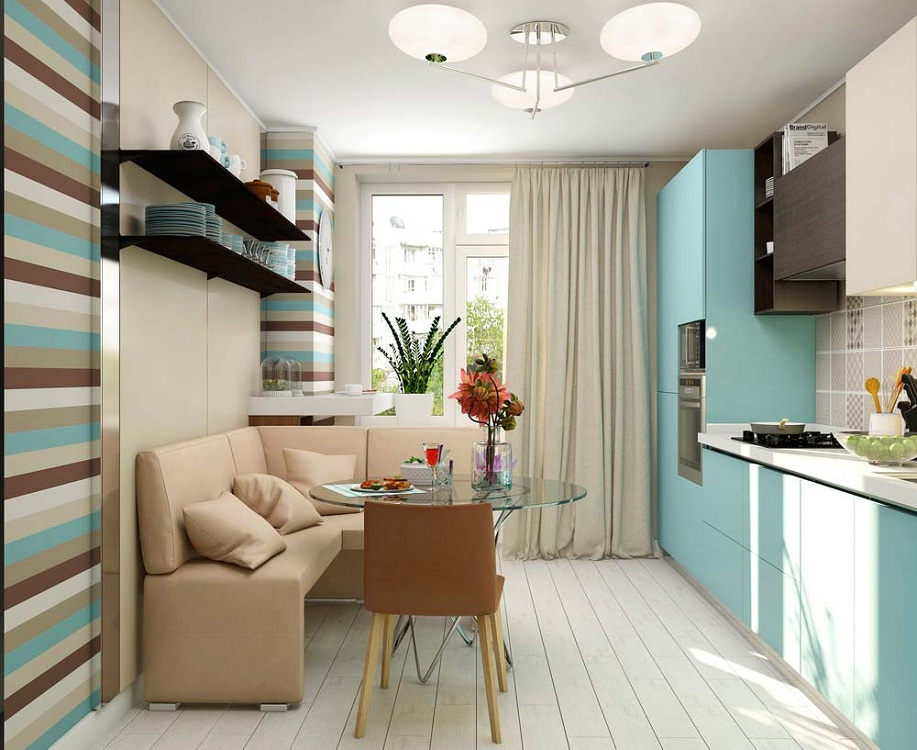 Интерьер кухни 9 кв м, стилистические решения, варианты планировок