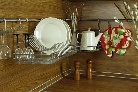 Рейлинговая сушилка для посуды