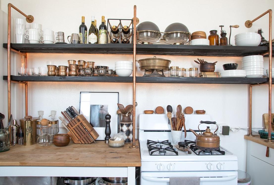Стеллажи для кухни своими руками