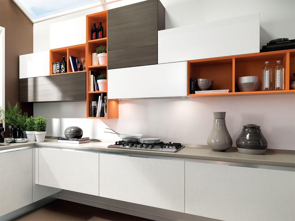 Цветовые решения для кухонных навесных шкафов