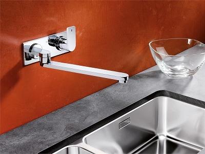 Типы креплений смесителя на кухне