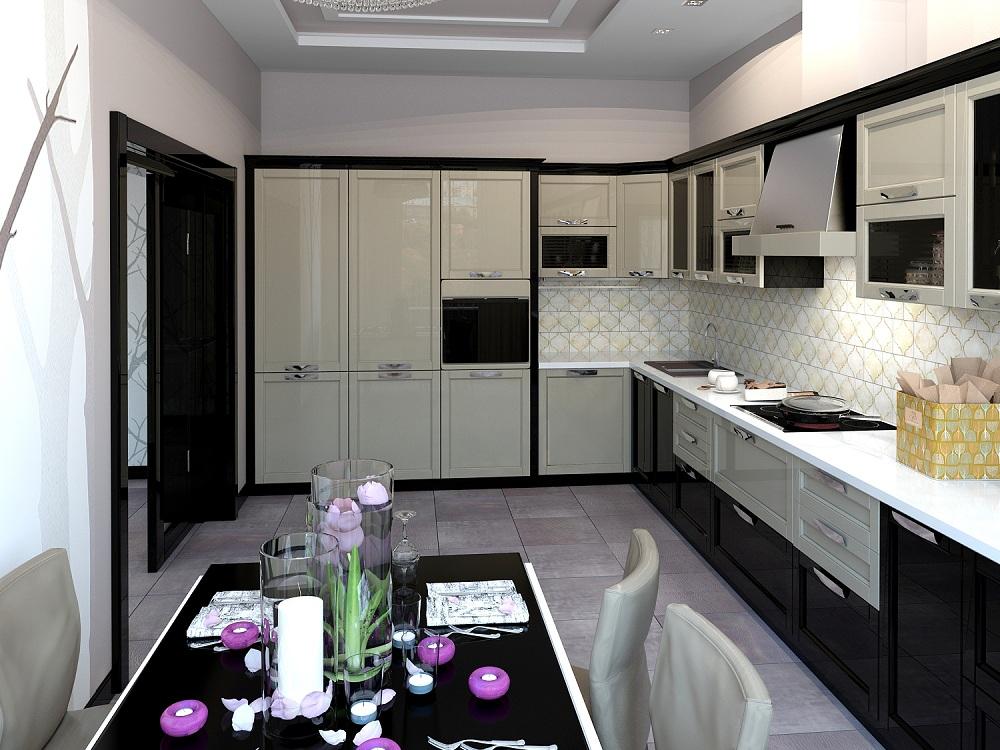 Угловая кухня 14 метров