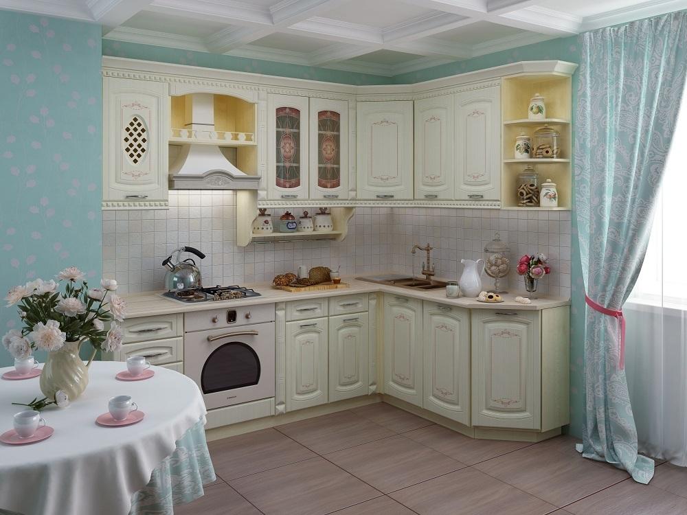 Угловые кухни в классическом стиле